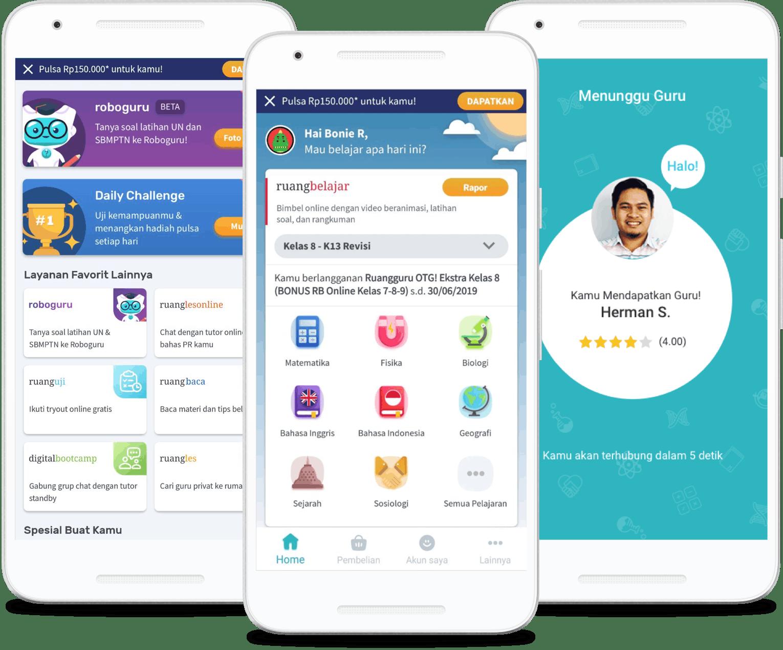 Ruangguru Aplikasi Belajar Untuk Siswa SD, SMP, dan SMA!